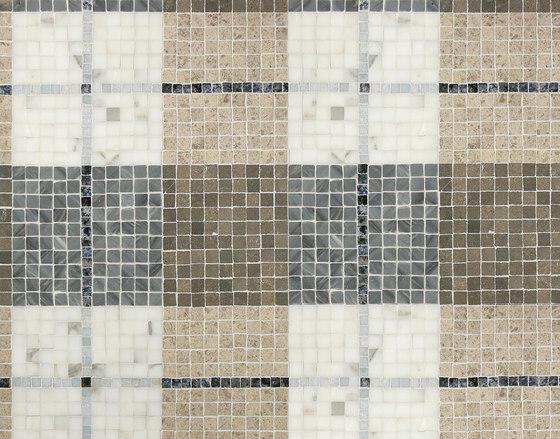 Mosaic Masterworks Tartan Pattern di Complete Tile Collection | Mosaici pietra naturale