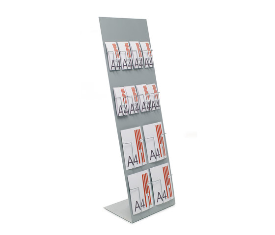 "837 Inclined display ""Alians"" in metal by Planning Sisplamo 