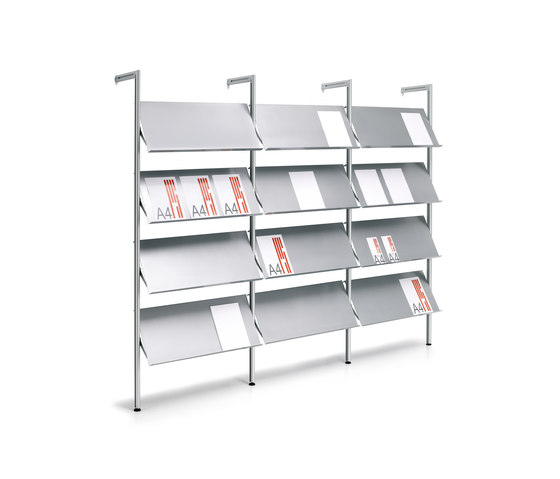 Ten Modular system by Planning Sisplamo | Brochure / Magazine display stands