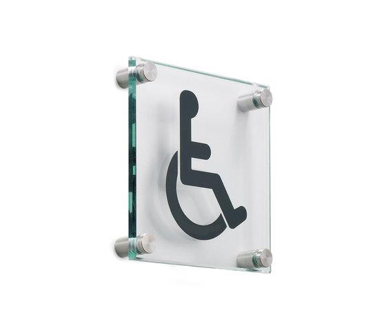 Vidrio Glas-Piktogramm von Planning Sisplamo | Raumbezeichnungsschilder
