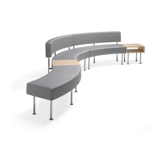 Longo bench by Materia | Modular seating elements