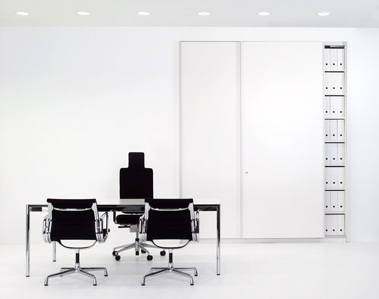 Office contract furniture storage shelving shelf systems - Basic S Suspended Door System By Werner Works Product