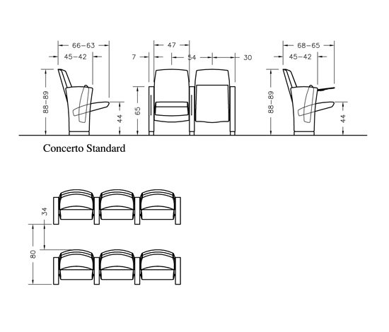 Concerto by Ares Line | Auditorium seating