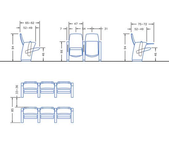 Genesis Evo by Ares Line | Auditorium seating