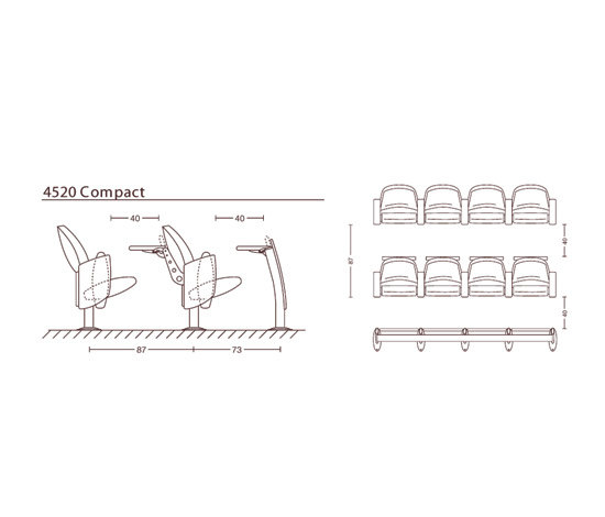 Metropolitan by Ares Line | Auditorium seating
