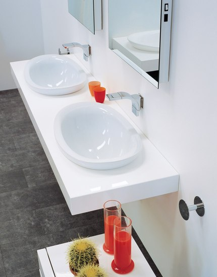 IO 60 basin by Ceramica Flaminia | Vanity units