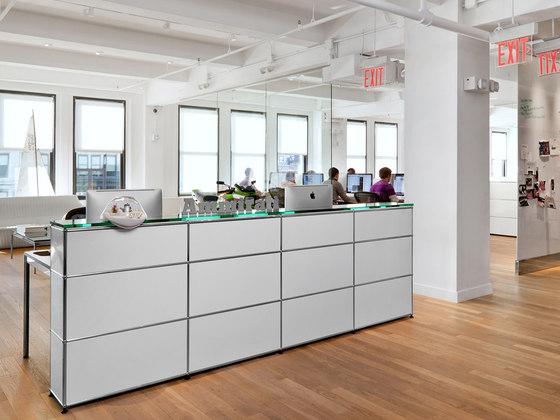 usm haller reception station reception desks from usm. Black Bedroom Furniture Sets. Home Design Ideas