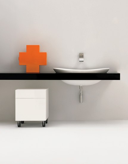 IO 75 basin by Ceramica Flaminia | Vanity units