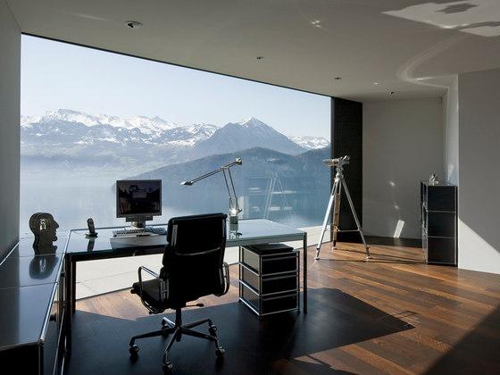 usm haller table glass sideboards from usm architonic. Black Bedroom Furniture Sets. Home Design Ideas
