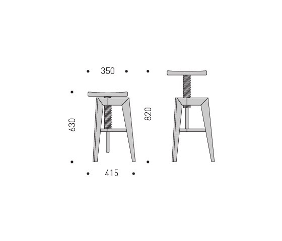 Screw Bench large by MINT Furniture | Bar stools