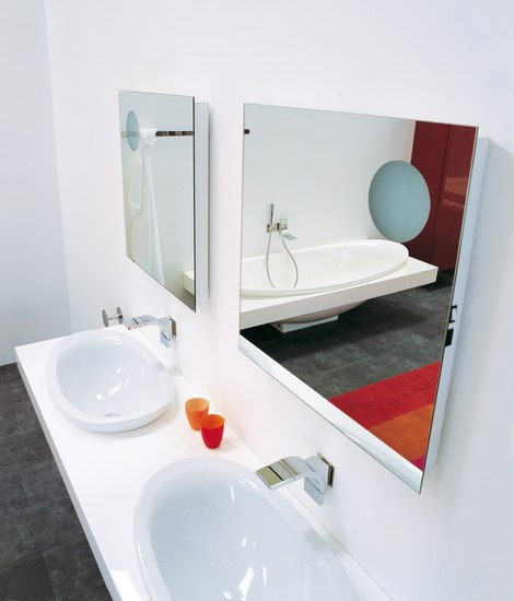 Simple 70 I 90 mirror by Ceramica Flaminia | Wall mirrors