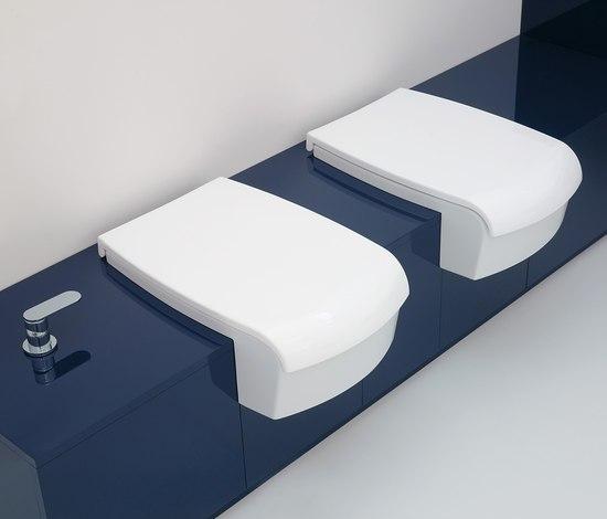 Una di ceramica flaminia 75 lavabo 90 lavabo vaso for Wc bidet integrato