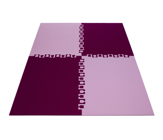 Rug Twice 4 Parts by HEY-SIGN | Rugs / Designer rugs