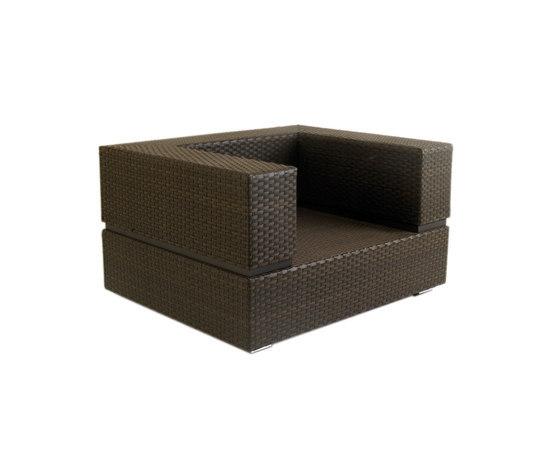 Cubic Stone Armchair by Calma | Garden armchairs