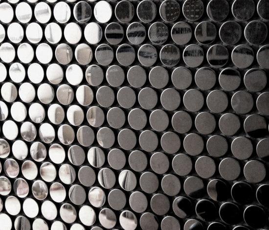Circle black brillante di The Inox in Color® | Mosaici metallo