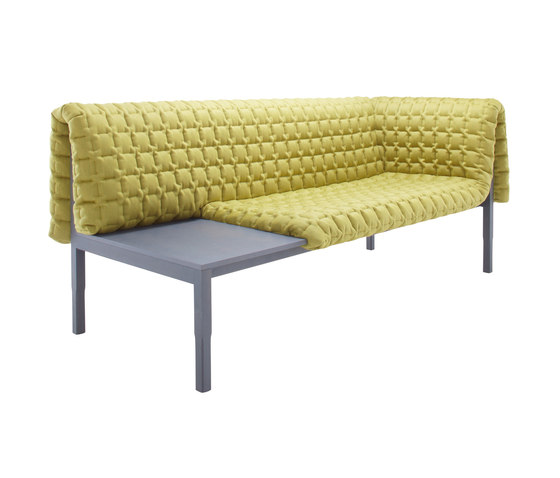 Ruché | 1-Armed Settee Left With Table Surface by Ligne Roset | Sofas