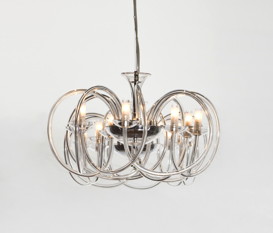 Flow Chandelier by Accente | Ceiling suspended chandeliers