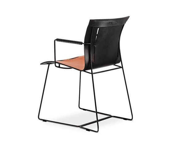 Cuoio chair with armrests by Walter Knoll | Visitors chairs / Side chairs