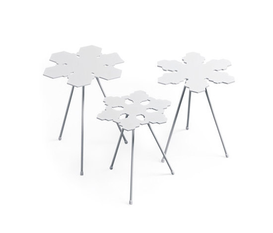 Snowflakes random tables by OFFECCT | Side tables