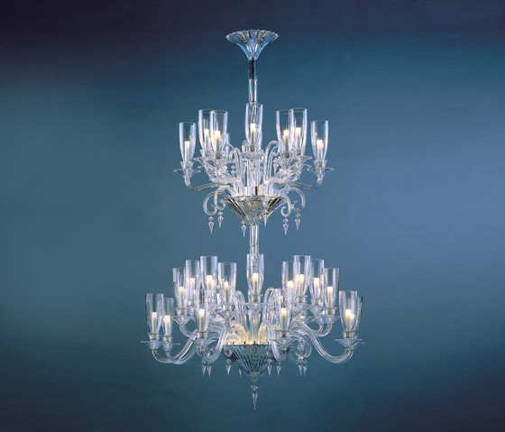 Mille Nuits by Baccarat | Ceiling suspended chandeliers