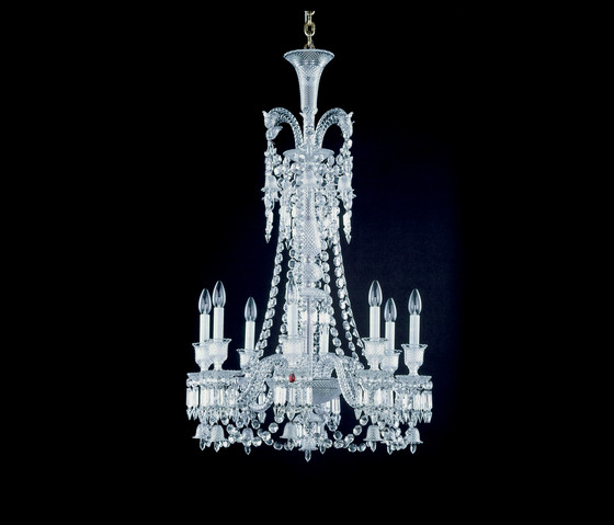 Zenith by Baccarat | Ceiling suspended chandeliers