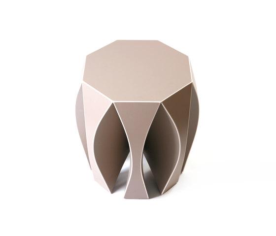 NOOK stool beige by VIAL | Garden stools