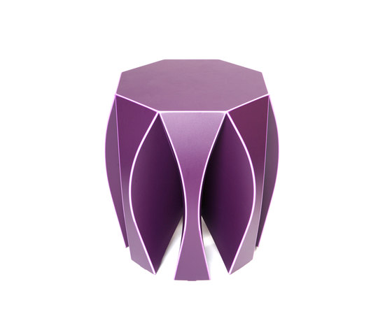 NOOK stool violet by VIAL | Garden stools