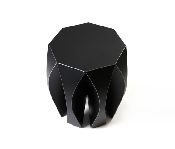 NOOK stool black by VIAL | Garden stools