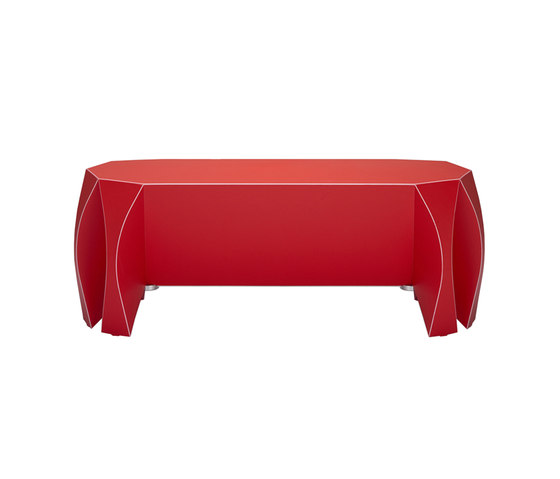 NOOK bench red by VIAL | Garden benches