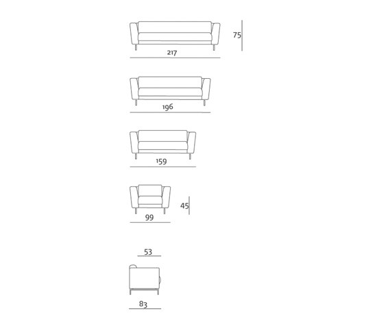 Cassala Sofa de Stouby | Sofás lounge