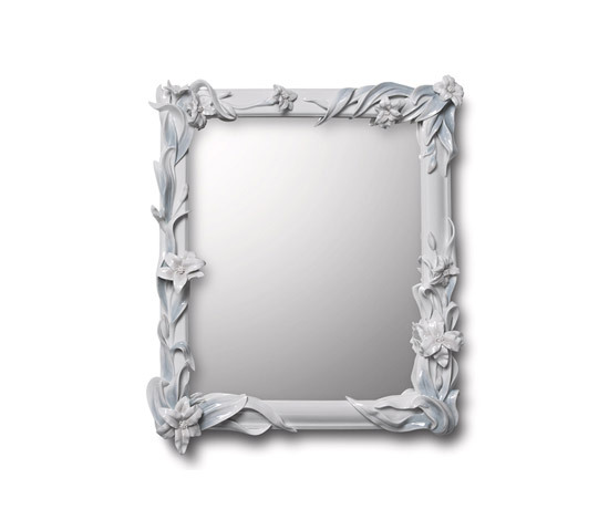 Mirror with Lilies (white) by Lladró | Mirrors