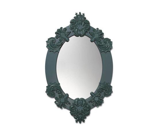 Espejo oval (verde) de Lladró | Espejos