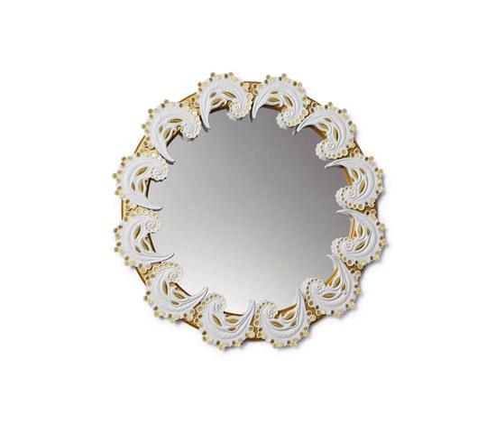 Espejo espirales (blanco/oro) de Lladró | Espejos