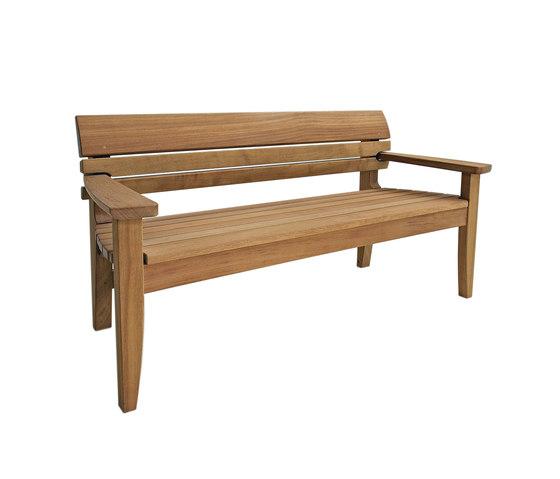 Chico full bench garden benches from benchmark furniture - Como hacer un banco de madera ...