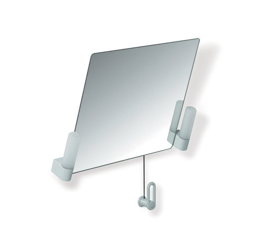 Adjustable tilting mirror with lighting by HEWI | Wall mirrors