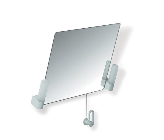 Miroir inclinable avec clairage miroirs muraux de hewi for Fixation miroir