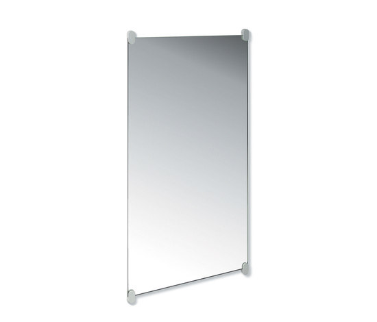 Plate glass mirror (wall mirror with holders) by HEWI | Wall mirrors