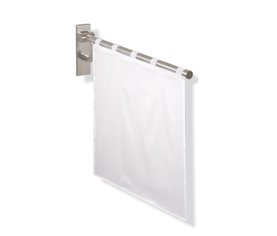Shower spray guard by HEWI | Shower curtain rails