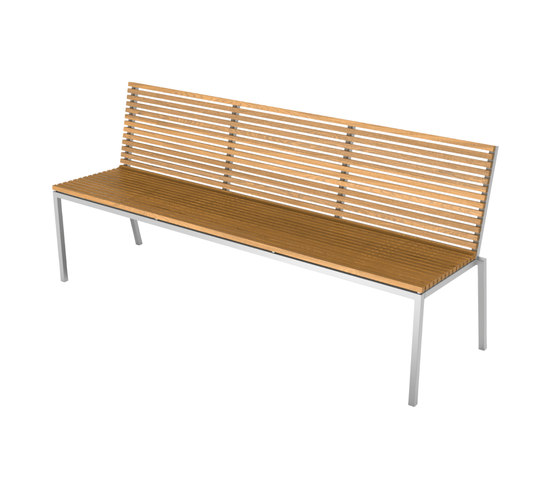 Home Collection Dining | Bench with backrest di Viteo | Panche da giardino