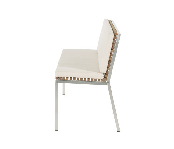 Home Bench with backrest by Viteo | Garden benches