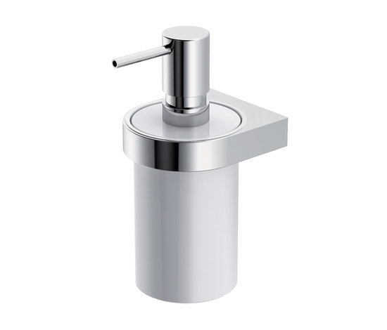 Soap dispenser with holder di HEWI | Distributori sapone