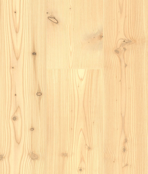 CLASSIC SOFTWOOD Siberian Larch multi-strip knotty white by Admonter | Wood flooring