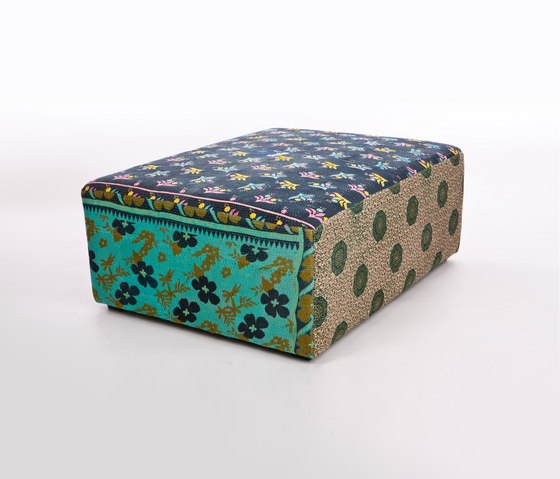 Antique Quilt Ottoman by Hay | Poufs