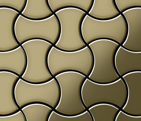 Infinit Brass Tiles von Alloy | Metall Mosaike
