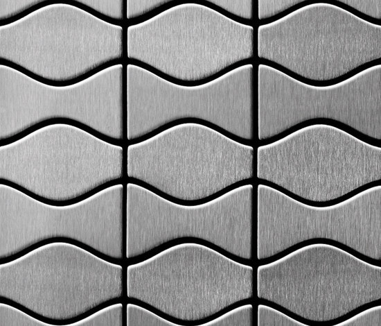 Kismet & Karma Stainless Steel Brushed Finish von Alloy | Metall Mosaike