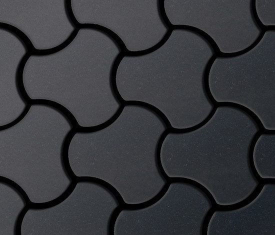 Ubiquity Raw Steel Tiles von Alloy | Metall Mosaike