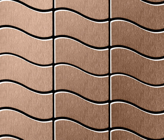 Flux Titanium Amber Brushed Tiles di Alloy | Mosaici