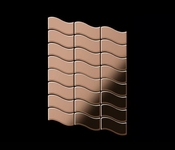 Flux Titanium Amber Mirror Tiles de Alloy | Mosaicos