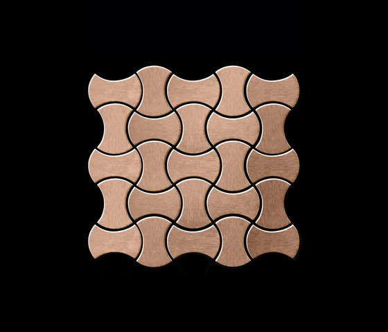 Infinit Titanium Amber Brushed Tiles by Alloy | Metal mosaics