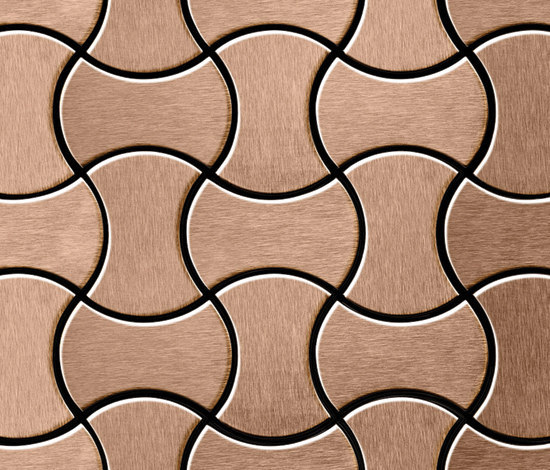 Infinit Titanium Amber Brushed Tiles de Alloy | Mosaïques